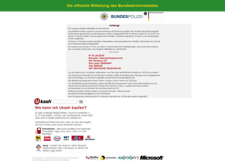Anleitung: BKA-Trojaner mit Hilfe des Avira DE-Cleaner automatisch entfernen
