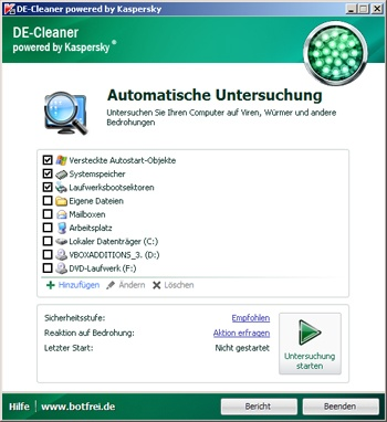 Anleitung DE-Cleaner powered by Kaspersky