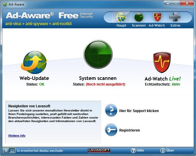 Ad-Aware blockiert BKA-Trojaner
