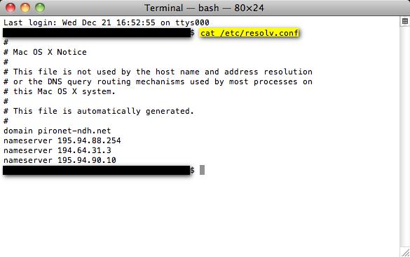 DNS-Server auf dem Mac überprüfen