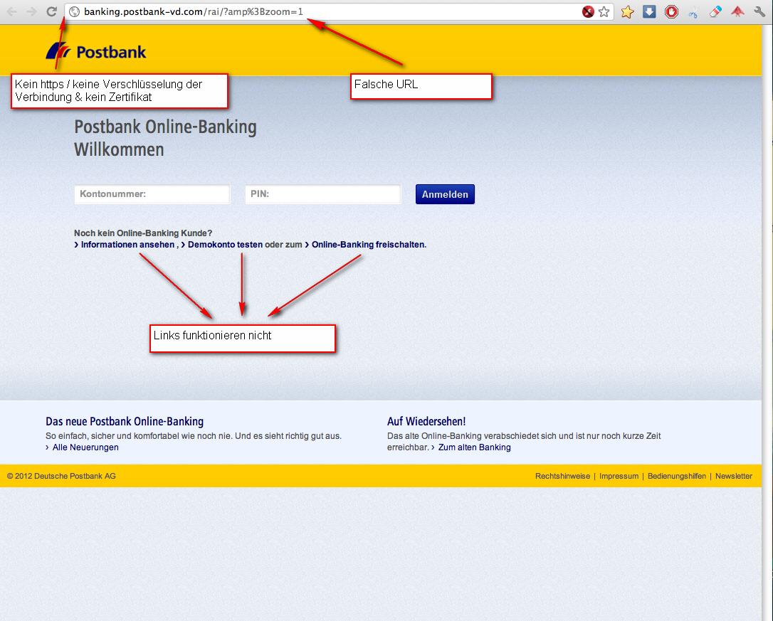 Postbank Phishing