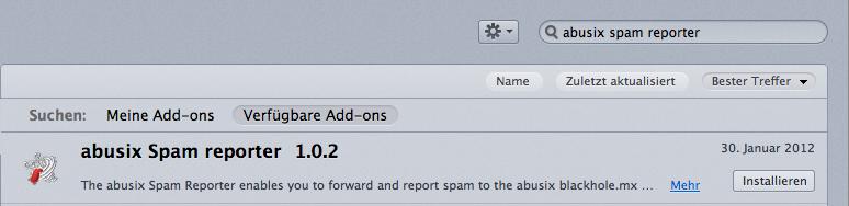 Abusix Spam Reporter - Installation