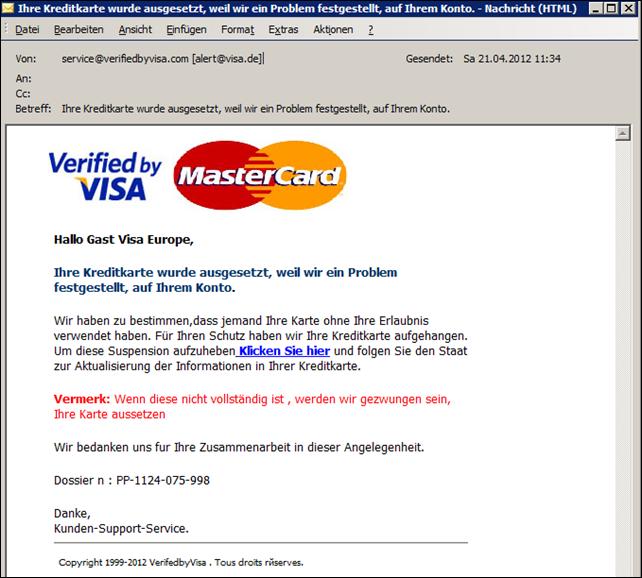 Bankdaten Fake