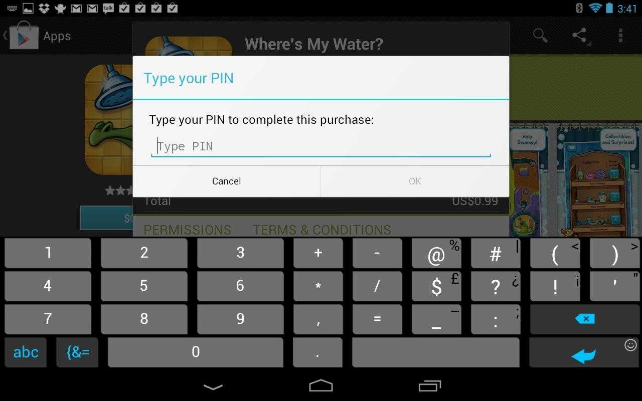 Sicehrn Sie auch den Google Play Store durch eine PIN ab.