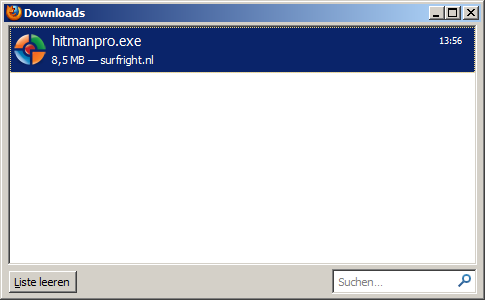Hitmanpro.exe - zum Starten doppelt anklicken