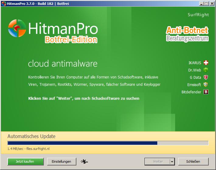 Aktualisierung beim 1. Start von Hitman