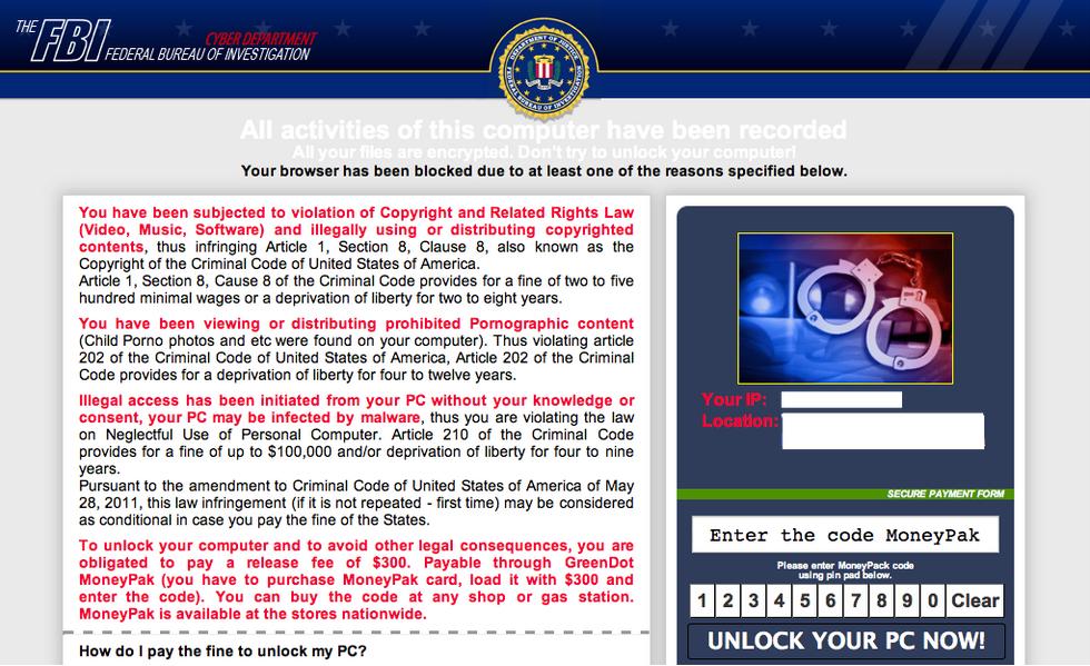 FBI-Ransomware nun auch auf Mac