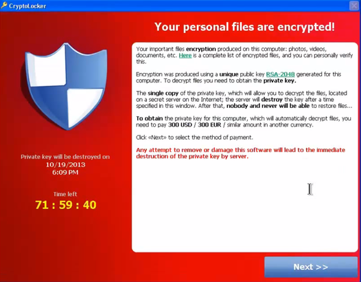CryptoLocker und wie kann ich mich dagegen schützen?