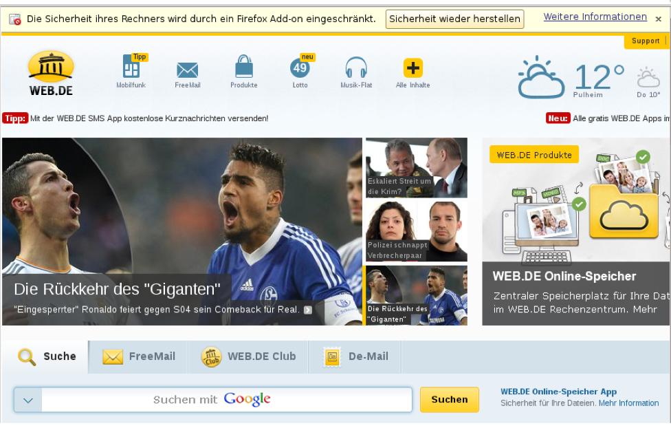 WEB.DE & GMX verunsichern Nutzer mit irreführenden Sicherheitsmeldungen!