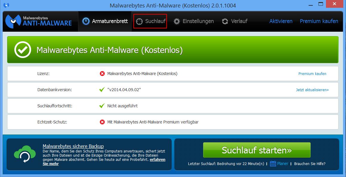 Startseite Anti-Malware
