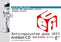 DE-Cleaner Rettungssystem und UEFI-PCs