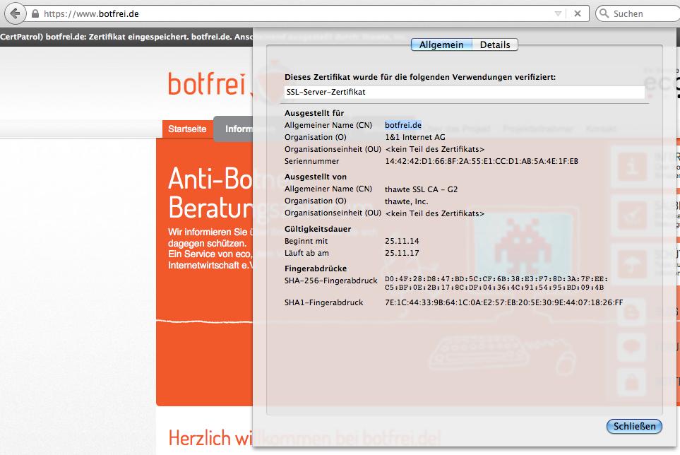 Certificate Patrol - botfrei Blog