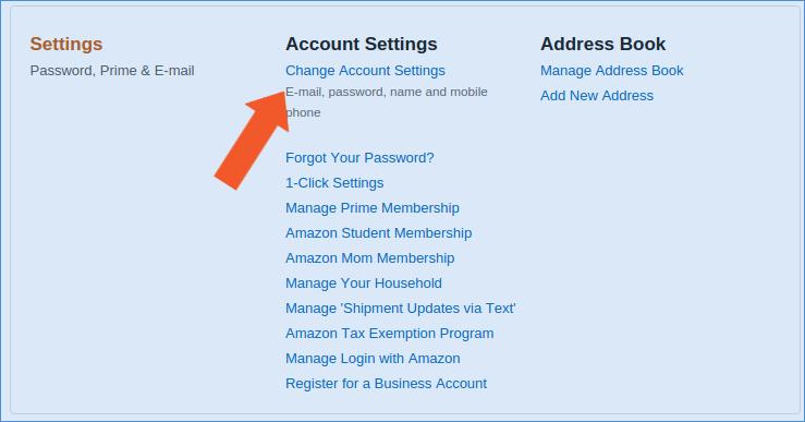 Amazon Authentifizierung