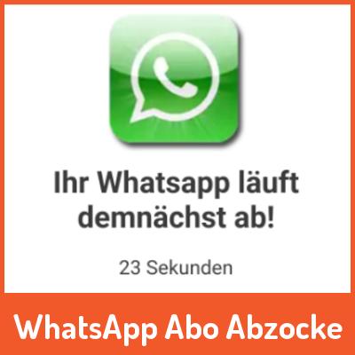 WhatsApp läuft heute ab! – Mit Adblocker wäre das nicht passiert.
