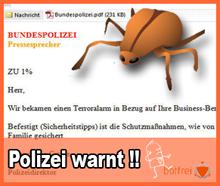 """Polizei warnt Bevölkerung vor """"Terroralarm""""-Spam"""