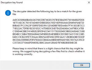 entschlüsselter Key zum decodieren quelle: http://www.bleepingcomputer.com
