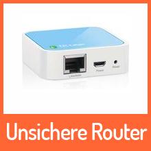 Unsicher Zugang bei TP-Link-Routern