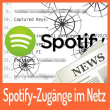 Hunderte Spotify-Zugänge im Netz aufgetaucht