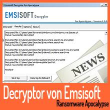 Emsisoft veröffentlicht Decryptor für die Apocalypse Ransomware