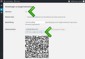 Authenticator Einstellungen
