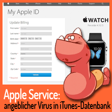 Spam – Angeblicher Virus in Apples iTunes-Datenbank