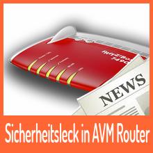 Sicherheitsleck bei AVM – Firmware Update empfohlen!
