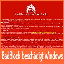 Ransomware BadBlock beschädigt Windows-Installationen