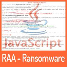 RAA Ransomware vollständig in JavaScript geschrieben