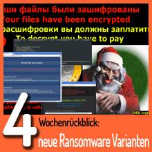 Weihnachtsmann & Co. – Neues von der Ransomware Front