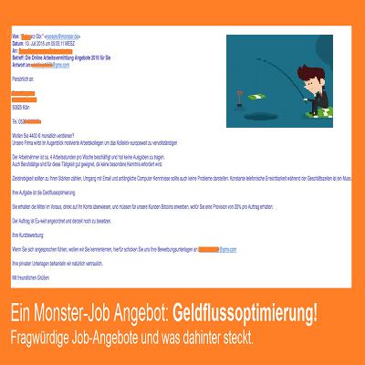 Ein Monster-Job Angebot: Geldflussoptimierung
