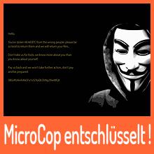 Ransomware MicroCop entschlüsselt
