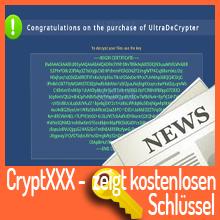 Ransomware CryptXXX – kostenloser Entschlüsselungscode!