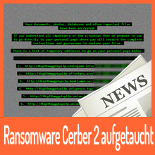 Cerber Ransomware in Version 2 im Umlauf