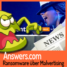 Answers.com liefert Ransomware über Werbung aus