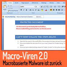 Mit alter Taktik – Macrobasierte Malware ist zurück