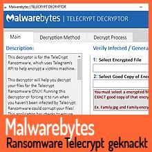 Telecrypt Ransomware geknackt – Malwarebytes gibt Decryptor frei