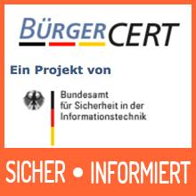 Technische Warnung des Bürger-CERT
