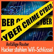 Hacker stehlen Wifi-Schlüssel von anfälligen Routern