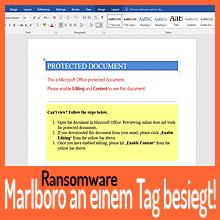 Marlboro-Ransomware an einem Tag besiegt!