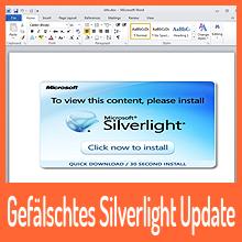 Gefälschtes Silverlight Update enthält Keylogger