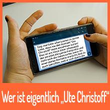 """Wer ist eigentlich """"Ute Christoff""""?"""