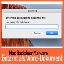 Mac Malware tarnt sich als Microsoft Word-Dokument