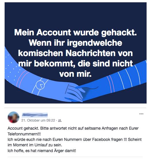 facebook konto gehackt was tun