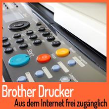 Hunderte Brother-Drucker online frei zugänglich