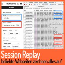 Session Replay: Beliebte Webseiten loggen alle Bewegungen des Nutzers mit