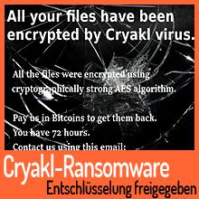 Entschlüsselung für Cryakl-Ransomware freigegeben