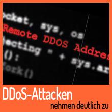 Statistiken zeigen: DDoS-Attacken nehmen deutlich zu