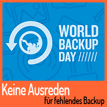 31. März ist World Backup Day