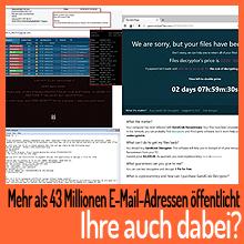 Mehr als 43 Millionen E-Mail-Adressen durchgesickert – Ist Ihre auch dabei?