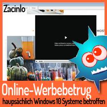 Online-Werbebetrug mit Fokus auf Windows 10 Nutzer